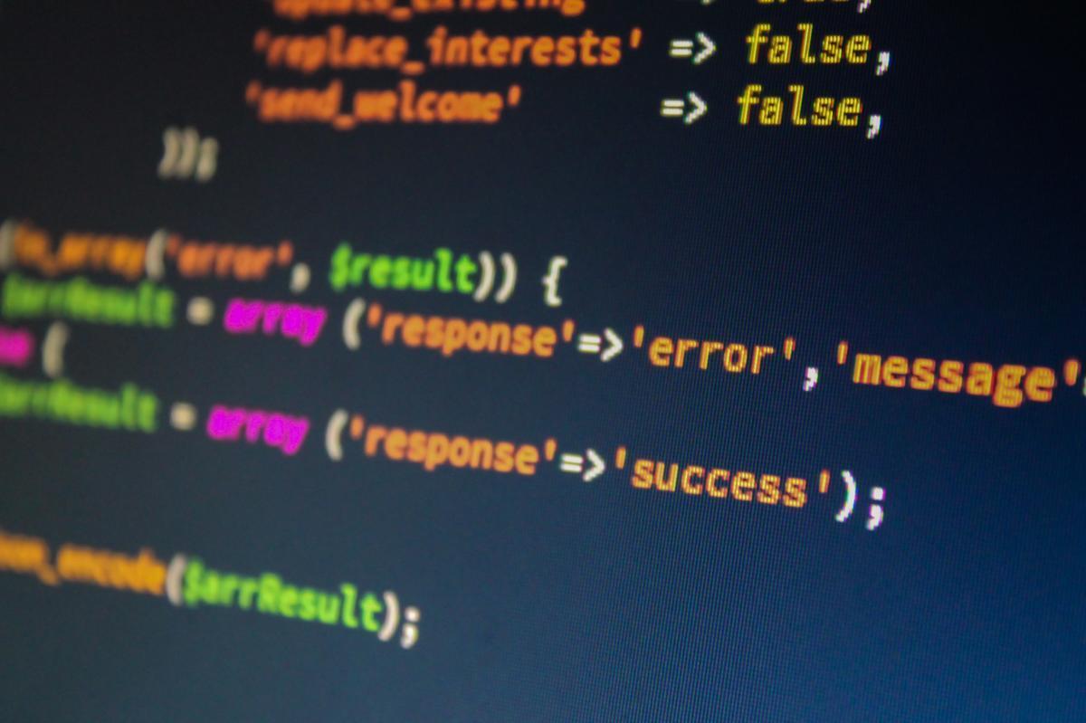 Computer code photo