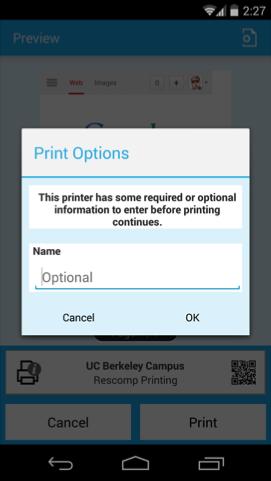 Mobile directions screenshot