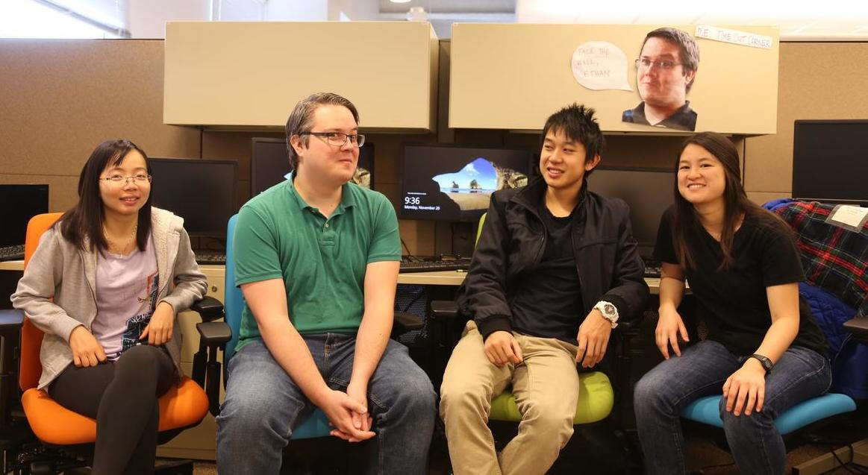 DE team members with Keenan