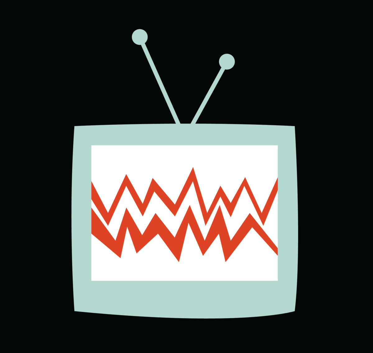 Drawing of television