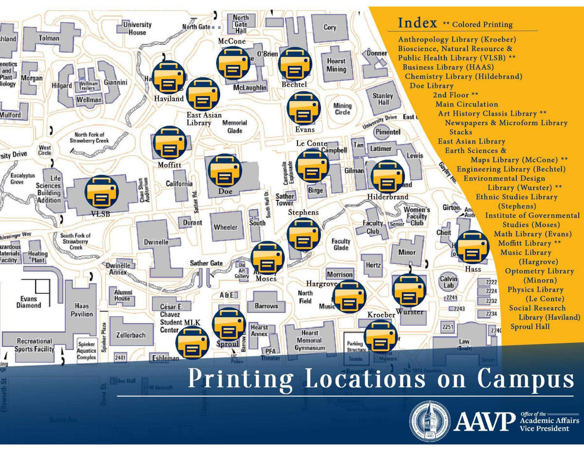 Map of Printing Locations