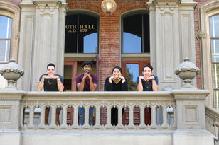 Students at California Hall