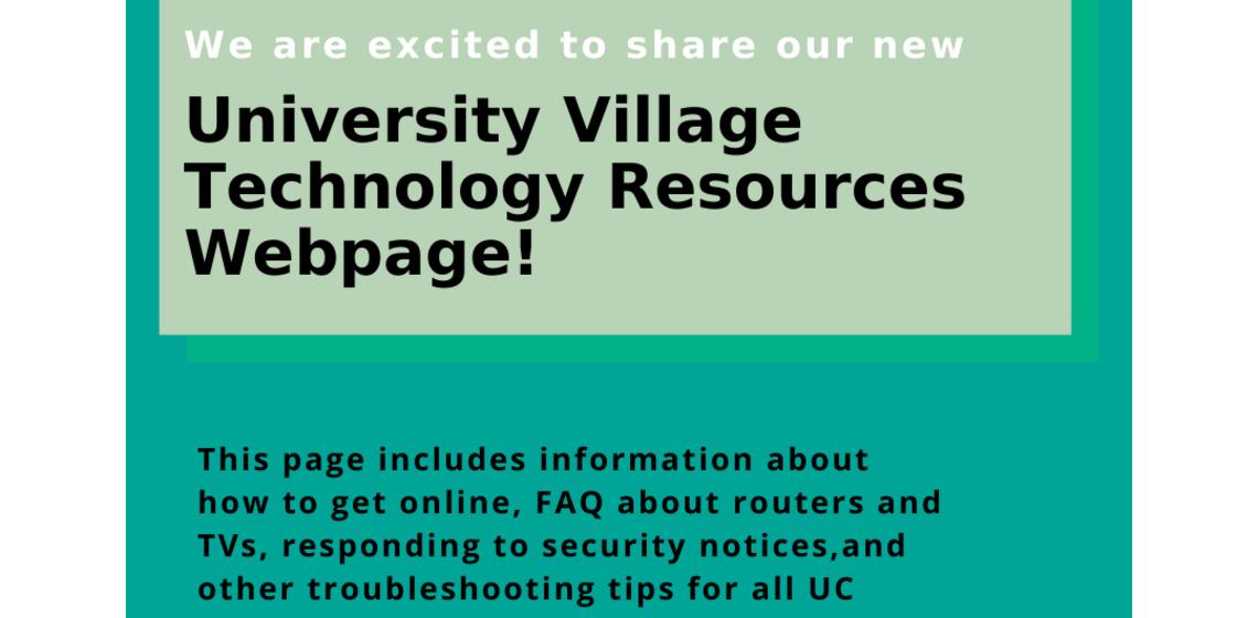 University Village Residents Technology Webpage