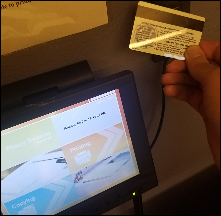 Tap your Cal1Card on the card reader
