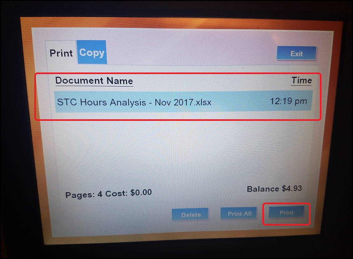 Release your document